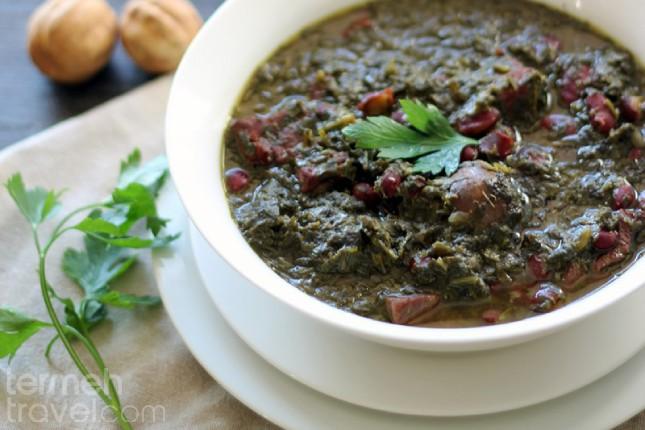 A Bowl of Ghormeh Sabzi, A Famous Persian Dish, Iran - Termeh Travel