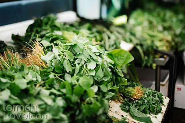 Vegetable for Ghormeh Sabzi | Termeh Travel