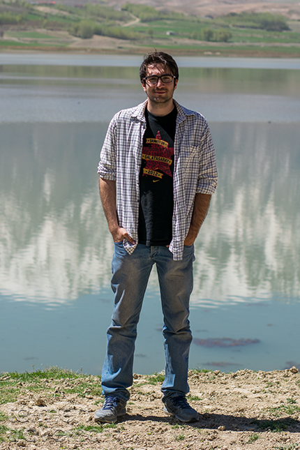 Man wearing casual summer clothes in Iran