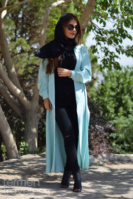 Woman wearing modern clothes in Iran