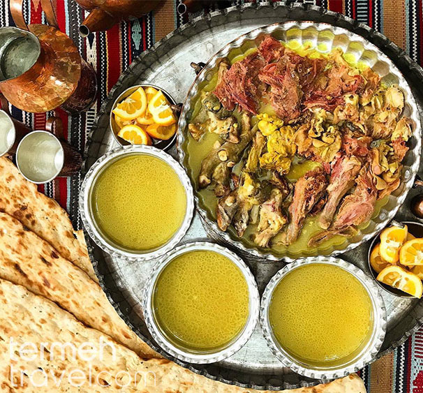 A famous Middle Eastern breakfast called Kaleh Pache