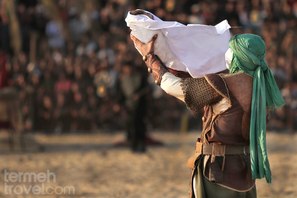 Ta'zieh Opera being performed in Iran to portray the events of the battle of Karbala