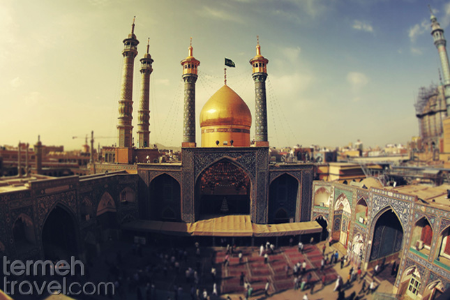 A view over the holy shrine of Fatimah Masoume in the city of Qom - Termeh Travel