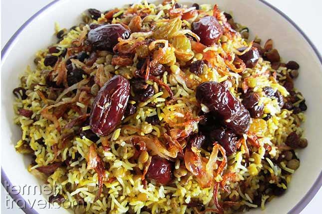 Adas Polo-Persian Foods-Termeh Travel