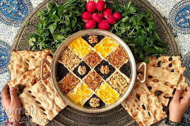 Kashk e Bademjan-Persian Foods-Termeh Travel