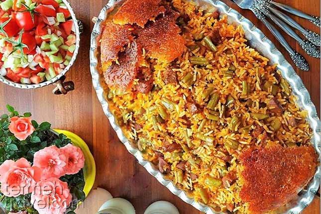 Loubia Polo-Persian Foods-Termeh Travel