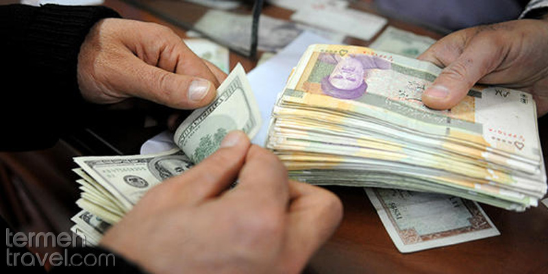 Exchanging Dollar to Rial- Termeh Travel