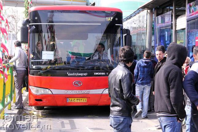 A Bus in Tehran- Termeh Travel