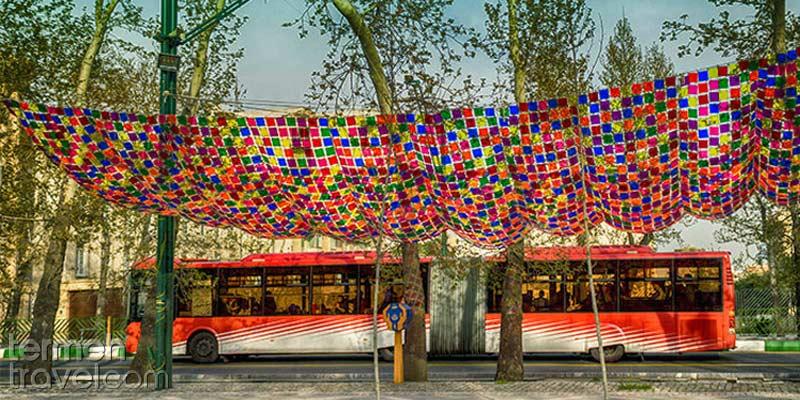 BRT Bus in Tehran- Termeh Travel