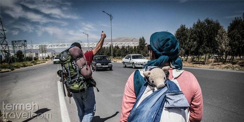 Tourists in Iran are hitchhiking-Termeh Travel