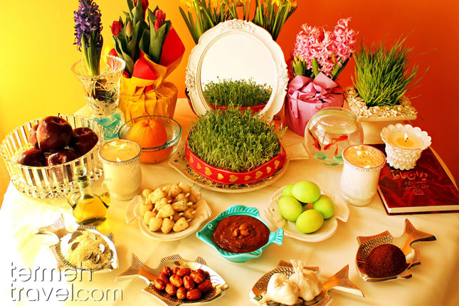 Persian Haft-seen Table- Termeh Travel