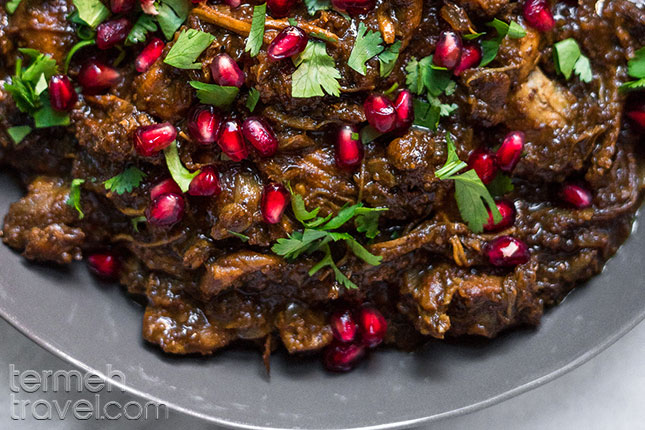 Chicken Fesenjan - Termeh Travel