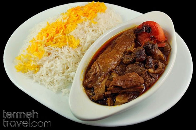 Eggplant Stew with Rice - Termeh Travel