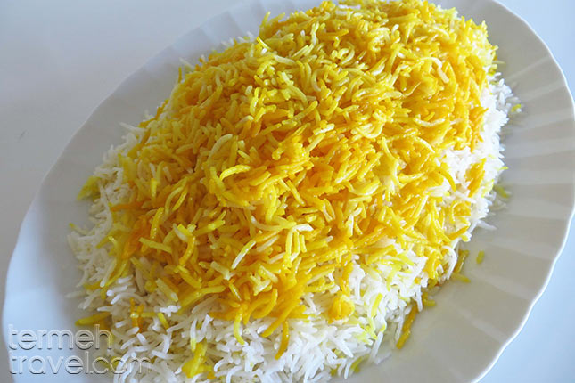 Persian Rice with Saffron - Termeh Travel