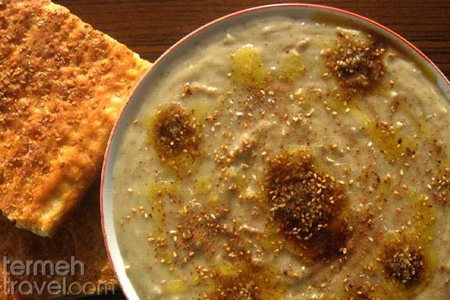 Persian Halim with Bread - Termeh Travel