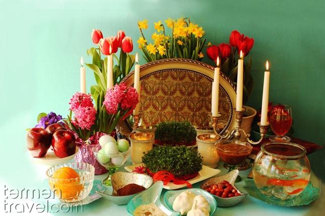 the Haftseen Table- Termeh Travel