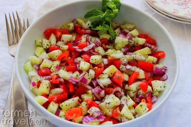 Shirazi Salad- Termeh Travel