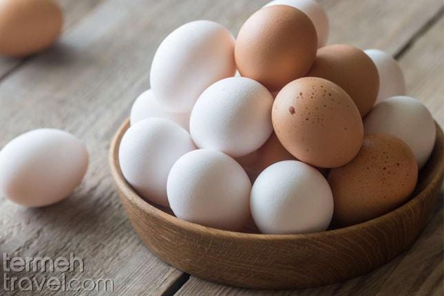 Eggs for Tahchin- Termeh Travel