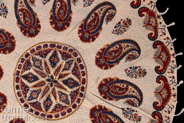 Ghalamkari on fabric- Termeh Travel