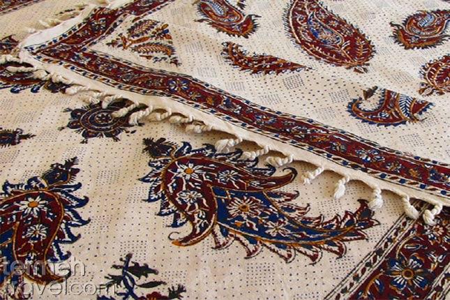 Persian Ghalamkari on fabric- Termeh Travel