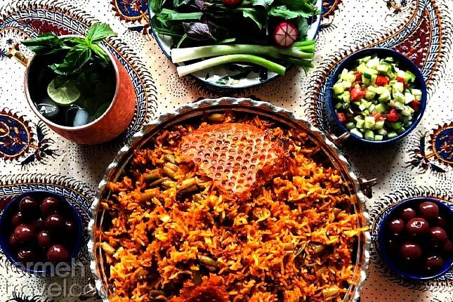 Loobia Polo (Persian Green Bean Rice)- Termeh Travel