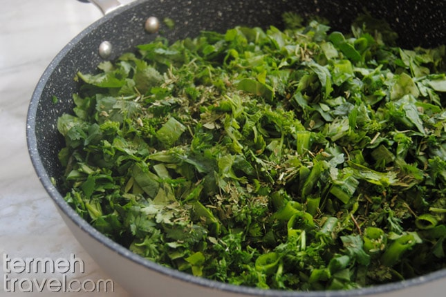 diced herbs- Termeh Travel