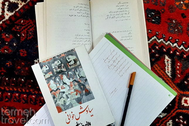 Farsi book and writing in Farsi- Termeh Travel