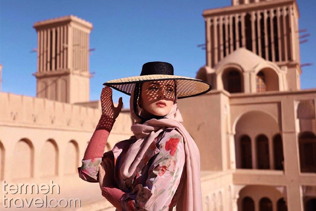 Solo Female Travelers- A female tourist in Yazd- Termeh Travel