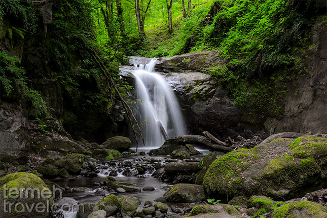 Waterfall in the forest of Gilan Iran - Termeh Travel