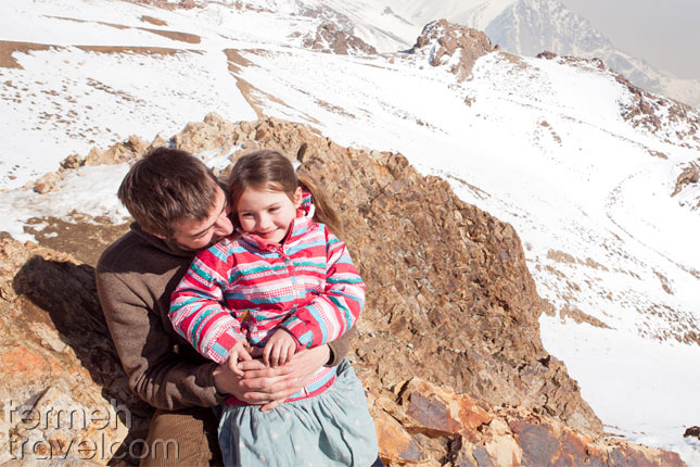 Father with his young child in Iran- Termeh Travel