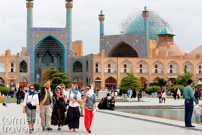 Tourists in Naqsh-e Jahan Square- Termeh Travel