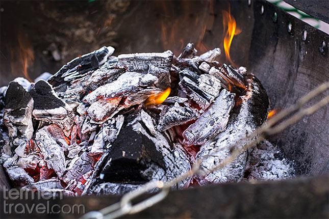 Kabab-Koobideh-Charcoal Termeh Travel