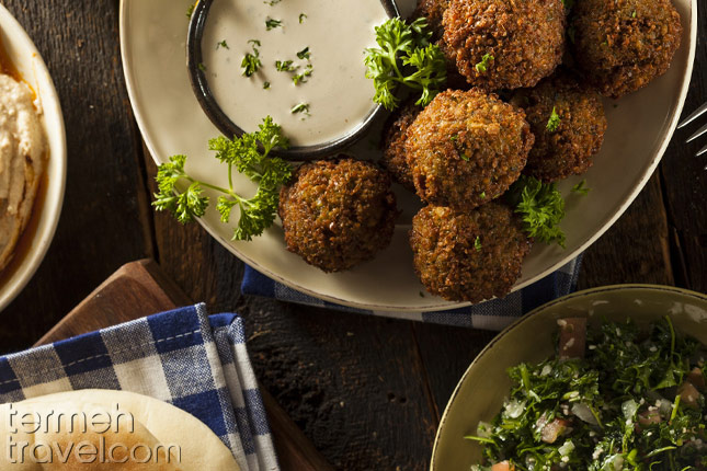 Persian Falafel in a plate- Termeh Travel