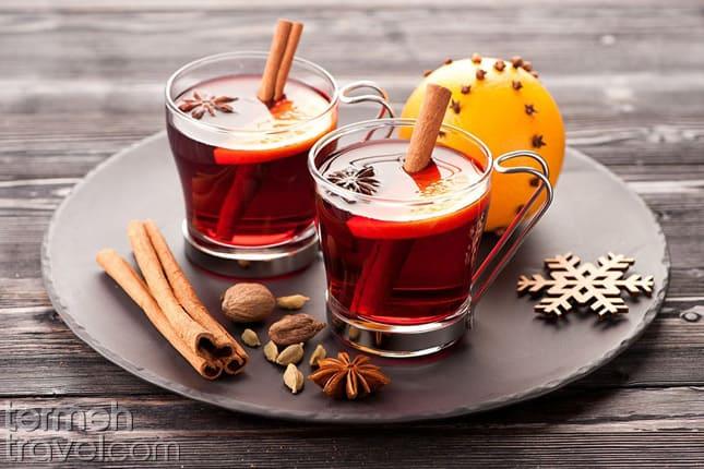 Persian cinnamon and cardamom tea- Termeh Travel