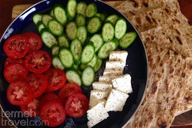 Feta Cheese, Walnut, Cucumber, and Tomato