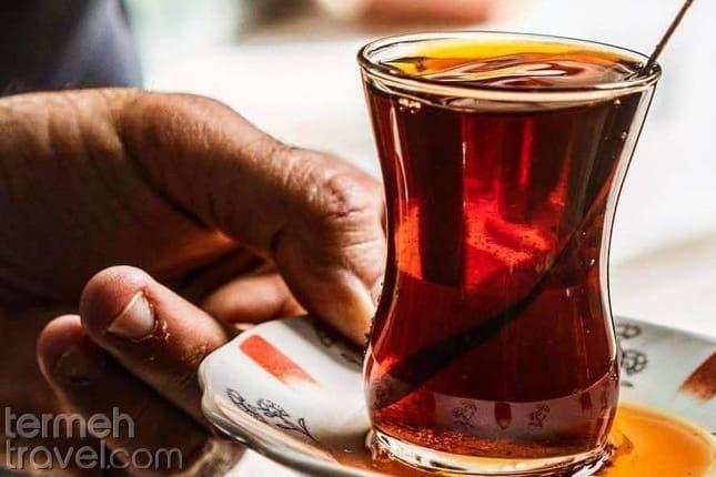 A cup of Persian tea