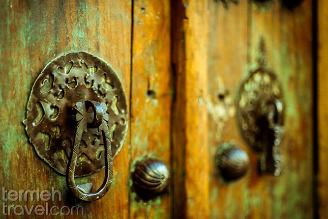 Door knob- Traditional houses in Iran- Termeh Travel