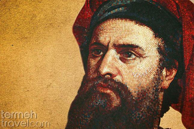 Marco Polo's Adventures in Iran- Marco's portrait- Termeh Travel