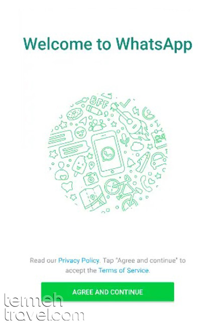 Installing WhatsApp- Termeh Travel