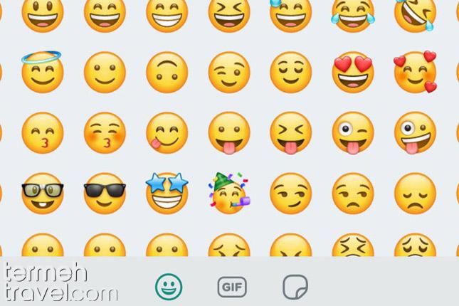 Emojis in WhatsApp- Termeh Travel