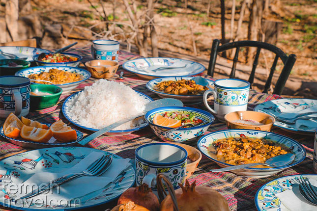 A table of Persian food- Termeh Travel